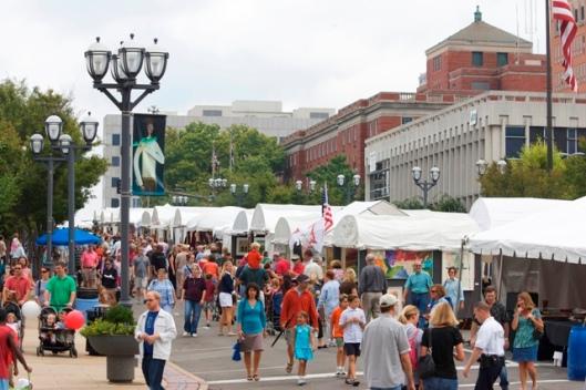 Saint Louis Art Fair in Clayton, Missouri on September 7, 2008.