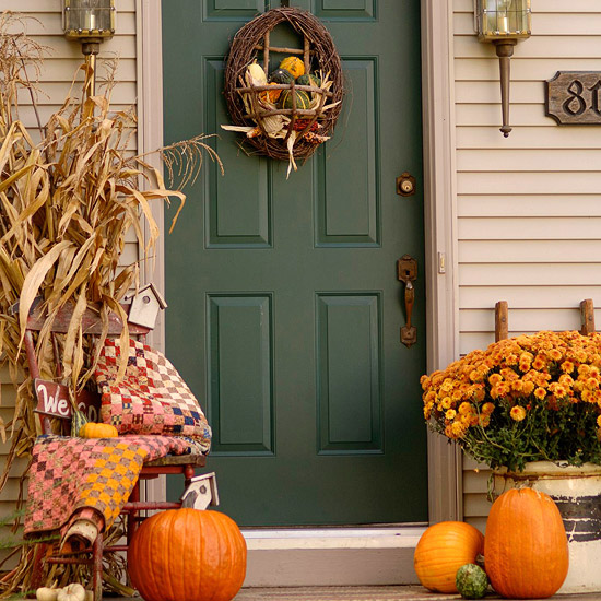 5 fun front porch fall decorating ideas st louis by gina - Fall front porch ideas ...